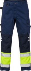 Trousers cl 1 2032 PLU Hi-Vis Yellow/Navy C52 (36 Reg)''